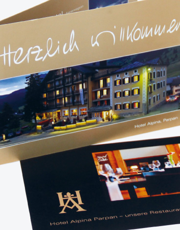Hotel Alpina Parpan, Image-Flyer, Corporate Design